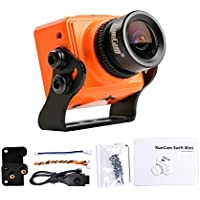 RunCam Swift Mini 600TVL FPV Camera 2.1mm Lens OSD DC 5-36V FOV 165 Degree CCD NTSC IR Blocked with Mount for Multicopter (Orange)