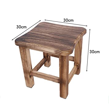 Amazon Com Retro Wood Footstool Waterproof Small Wooden Stool For