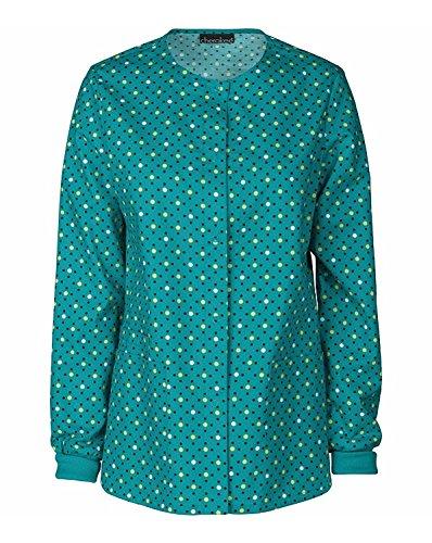 (Cherokee Women's Snap Front Warm Up Jacket X-Small Print)