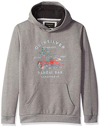 Quiksilver Boys' Big Banzai BAR Hood Youth Hoodie Jacket, Medium Grey Heather, L/14