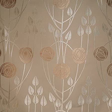 Loome Charles Rennie Mackintosh Style Fabric Clyde Roses
