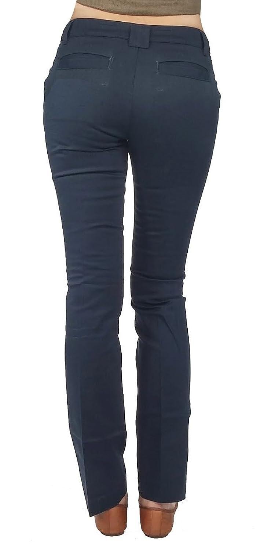 DICKIES GIRL'S STRETCH SLIM STRAIGHT PANTS(JUNIORS)