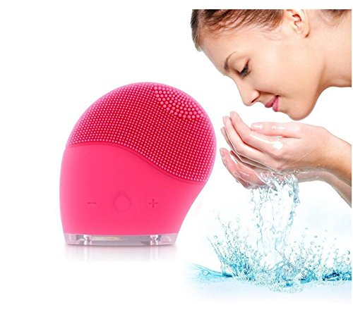 TBAO Face Brushes Electric Silicone Wash Face Brush Face Cleaning and Massager for Face Polish and Scrub, New Skin Care Tools Natural Silicone Facial Cleansing Brush Facial Massager Cleanser by TBAO (Image #7)