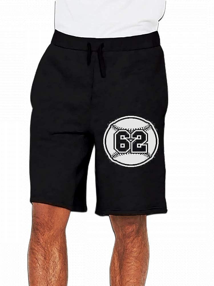 JiJingHeWang 62 Baseball Vector Mens Casual Short Trouser