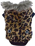DoggyDolly Authentic Animal Print Fur Coat, Small