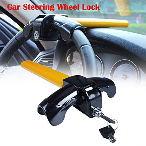 (EFORCAR 1 PCS Universal Anti-Theft Car Auto Security Rotary Steering Wheel Lock)