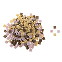 200g 10*10mm Vitreous Glass Mosaic Tiles Mix Arts & Crafts Color-A5