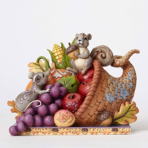 Jim Shore HWC Harvest of Blessings Cornucopia with Friends Figurine 4053855 -