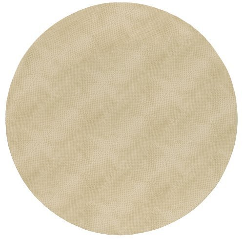Round Placemats Table Mats Thanksgiving Placemats Christmas Placemats Faux Ivory Leather Pk 6 by Caspari (Image #1)