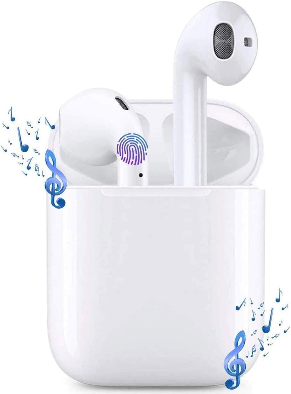 i12 Auriculares inalámbricos Bluetooth 5.0, Control táctil, micrófono Incorporado y Caja de Carga, reducción de Ruido estéreo 3D HD, adecuados para Auriculares Android/iPhone/Samsung/AirPods Pro