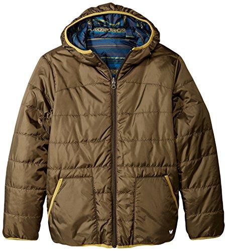 White Sierra Boys Zephyr Reversible Jacket, Dark Sage, - Silky Sage