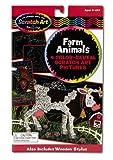 Melissa & Doug Scratch Art Color Reveal Pictures - Farm