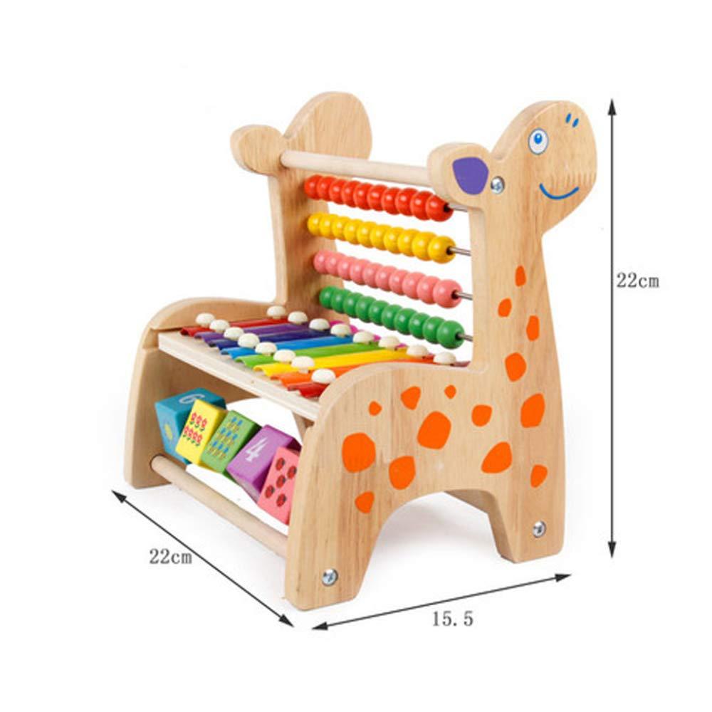 ZHAOHUIFANG Holzspielzeug - Early Activity Toys Frühkindliche Puzzle-Multifunktionsperle Spielzeug Lernspielzeug, 2