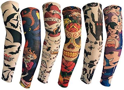Mzqaxq Tattoo Sleeve 6 Unids/Set Brazo De La Flor Sin Costuras ...