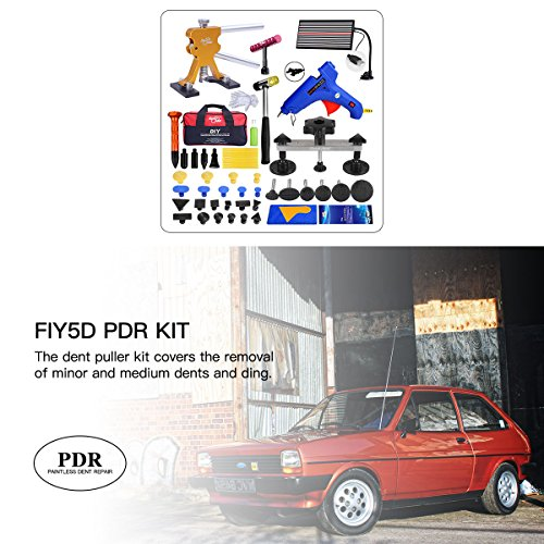 Fly5D Upgraded 57Pcs Car Paintless Dent Removal Kit Adjustable Gold Dent Lifter Bridge Puller PDR Set Tools for Hail Damage Vehicle Dent Repair Door Dings Popper Refrigerator by Fly5D (Image #6)