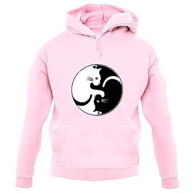 79e6cd667dd5 Amazon.com  Yin Yang Cat - Unisex Hoodie Hooded Top - 12 Colours ...