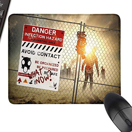 Zombie Decor Wrist Comfort Mouse Pad Dead Man Walking Dark Danger Scary Scene Fiction Halloween Infection Picture Natural Rubber Gaming Mouse Mat 23.6
