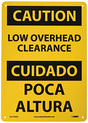 NMC ESC709AB Bilingual OSHA Sign, Legend
