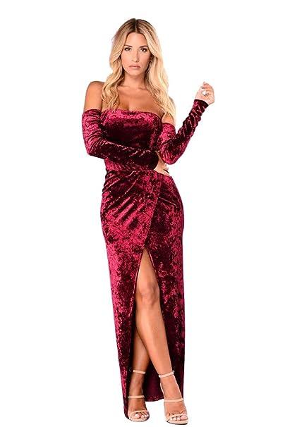 XFentech Vestido Fiesta Mujer - Vestido de Fiesta Mujer ...
