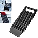 LEIWOOR Tire Traction Mat Ice Scraper Tool Emergency Non-Slip Grip Pad for Unstucking Car from Snow, Ice, Sand, Mud