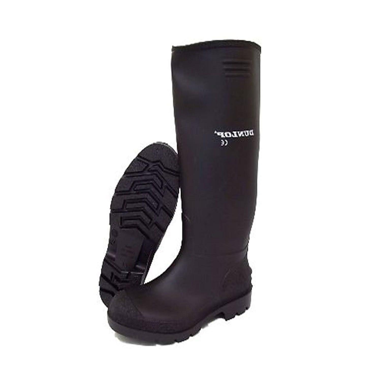 UK Size New Mens//Gents Black Full Length Rubber Waterproof Wellington Boots