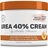 Urea 40% Advanced Callus Remover, Infused with Organic Botanicals and Essential Oils. Best Moisturizer - Softens Rough, Dry Skin. Superior Relief for Cracked Heels. Premium Foot Repair Cream. 4 oz