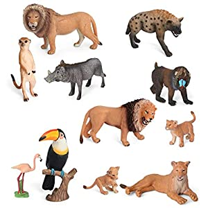 Volnau Animal Toys Figurines Africa Animals Figures Zoo Pack for Kids Christmas Birthday Gift Preschool Educational and…