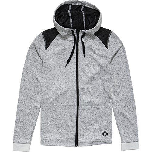 Zip Hoodie - Women's Heather White, M (Hurley White Sweatshirt)