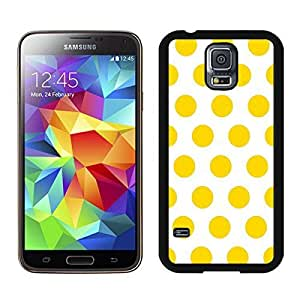 Polka Dot White and Yellow New Top S5 Case for Girls Best Samsung Galaxy S5 Case for Boys Spot Black Cover