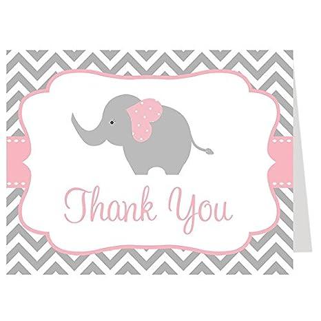 amazon com elephant thank you cards chevron stripes baby shower