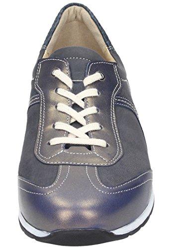 CUSHY Dr.Brinkmann Damen Ballerinas, Schnuerschuhe, modelos 850278-5, color azul - azul
