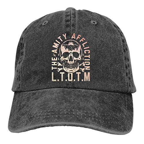 LeafLover The Amity Affliction Unisex Cotton Denim Cap Hat Adjustable Music Skull Cap