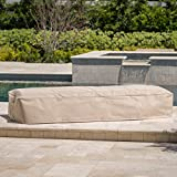 Christopher Knight Home 301181 Shield Outdoor Fabric Lounge Set Cover (Set of 2), Beige