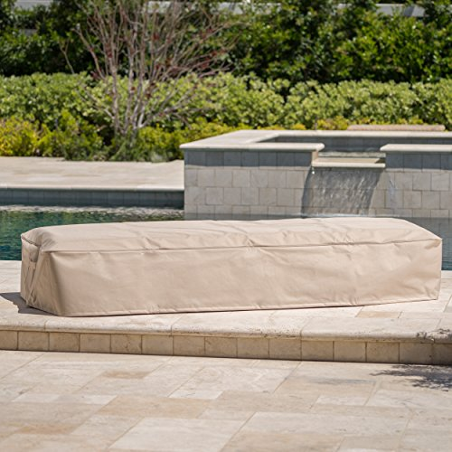 Solana Outdoor Beige Waterproof Fabric Lounge Set Cover (Set of 2)