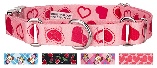 Country Brook Design | Happy Hearts Martingale with Premium Buckle - Medium -