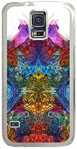 Artistic Psychedelic Hard Shell Transparent Samsung Galaxy S5 I9600 Case