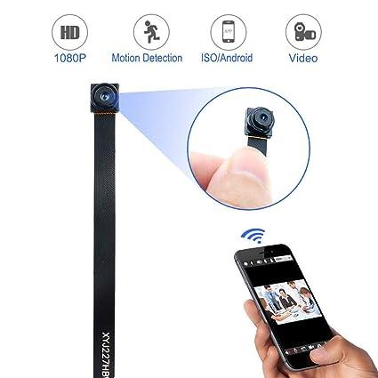 SHHENGSHIYUJIA Cámara espía Mini WiFi Cámara Oculta cámara de Seguridad inalámbrica 1080P HD con Alarma de