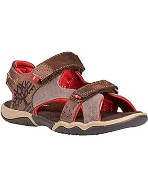Park Hopper 2-Strap Plotting Soil Leather Infant Flat Sandals