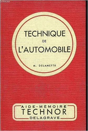 En ligne Technique de l'automobile pour les c.a.p. et b.p. de mecanique automobile pdf epub
