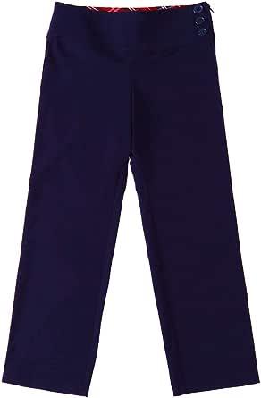 Bienzoe Niño Uniformes Escolares Elástico Poliéster Cintura Ajustable Pantalon