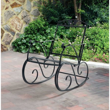 Mainstays Jefferson Wrought Iron Porch Rocking Chair
