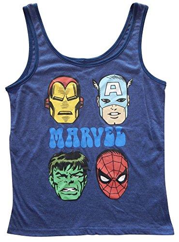 Tank Heather Navy Marvel Top Avengers Juniors M wHqHzA