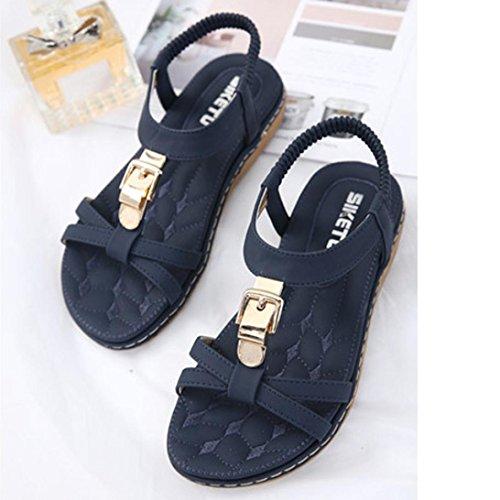 tacones para zapatillas las B de pie Bohemia LMMVP de zapatos abiertos de Sandalias Mujer moda Las Verano mujeres Strass mujeres n8RqTf