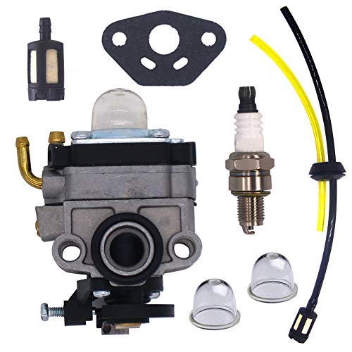 FitBest Carburetor with Fuel Line Kit for Honda 4 Cycle Engine GX31 GX22 FG100 16100-ZM5-803 GCA91 Carb
