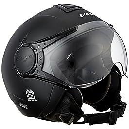 Vega Verve Open Face Helmet for Women (Dull Black, M)