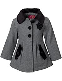 Coat for Girls, Babies & Toddlers with Velvet Accents
