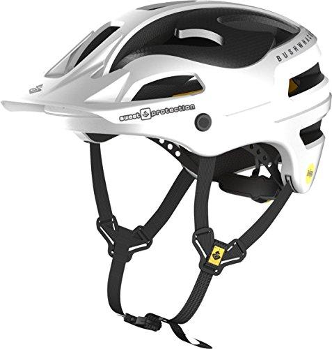 Spring Temporal (Sweet Protection Bushwhacker II Carbon MIPS Bike Helmet, Satin White Metallic, Medium/Large)