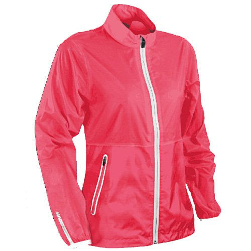Sun Mountain 2017 Women's Cirrus Jacket (Coral-White, (Sun Mountain White Jacket)