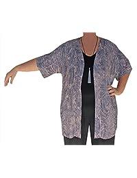 Tunic Cardigan, Women's PLUS SIZE Dolman Sleeve Jacket, Handmade, ONE SIZE 2x/3x