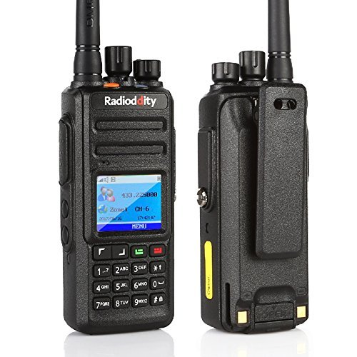 Radioddity GD-55 Plus 10W IP67 Waterproof UHF 400-470MHz 256CH 2800mAh DMR Two Way Radio Ham Radio Compatible with Mototrbo Dual Time Slot, with Free Programming Cable+ 2 Antennas + Remote Speaker by Radioddity (Image #5)